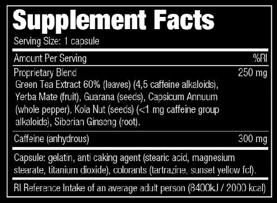 STACKER2 - STACKER 4 - WORLD'S MOST EXTREME FAT BURNER - 100 KAPSZULA (HG)